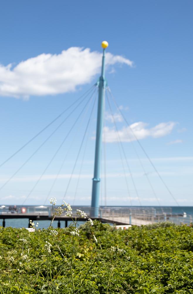 """Die Hohwachter Seebrücke, auch """"Hohwachter Flunder"""" genannt"""
