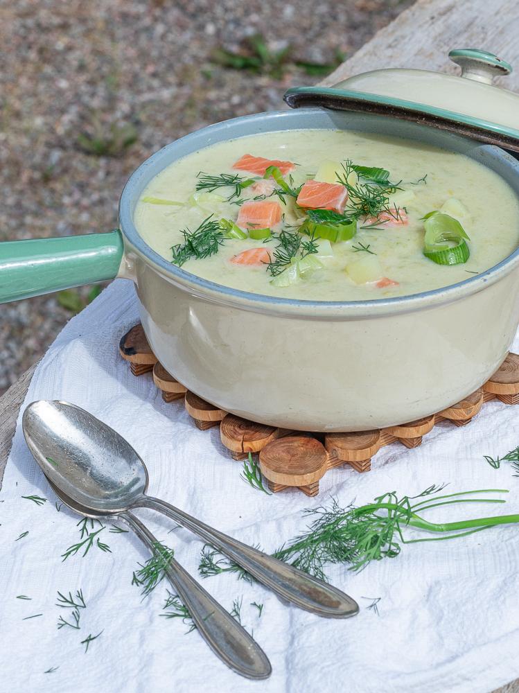 schwedische Sommersuppe mit La chs