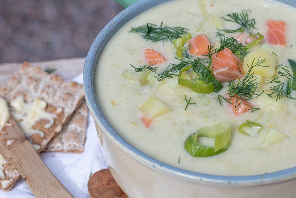 schwedische Sommersuppe mit Lachs: Original-Rezept