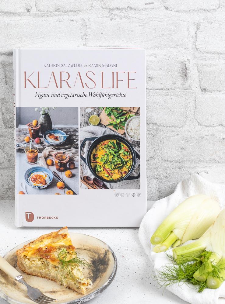 """""""Klaras Life. Vegane und vegetarische Wohlfühlgerichte."""" Ein neues Kochbuch aus dem Thorbecke-Verlag. Rezension und Rezept."""