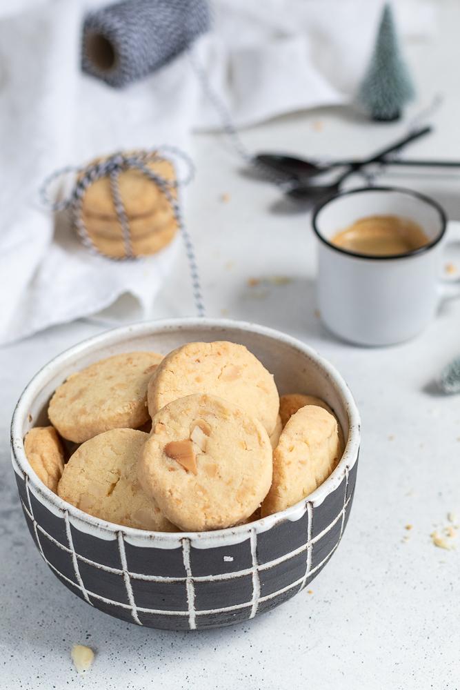 Macadamia-Shortbread: ein einfaches aber sehr leckeres Cookie-Rezept